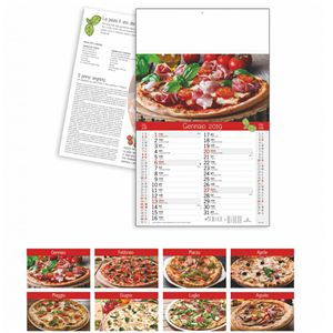 Calendario Pizza Italiana 2019