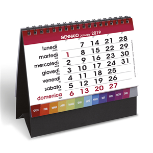 Calendario da Tavolo 2019 TIME NERO